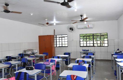 Regras sobre uso de ventiladores e ar condicionado em escolas estaduais